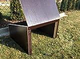 Mähroboter - Garage - Überdachung für Rasenroboter aus stillvoll dunklem Holz - 69 x 69 x 45 cm - fertig montiert - witterungsfest