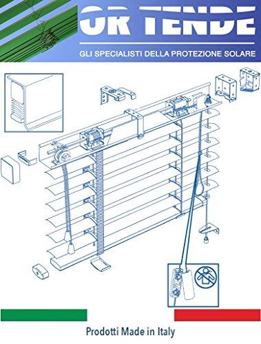 Ortende - tende veneziane da 50 mm per esterno con nastro in pvc e guide laterali, produzione su misura, non kit cinesi di pessima qualita'. produzione italiana