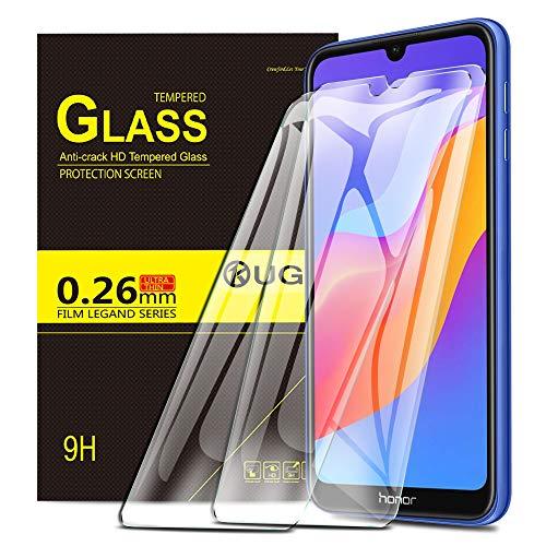 KuGi. pour Verre trempé Honor 8A /Huawei Y6s / Y6 2019, [Dureté 9H] HD Ultra Transparent Protection écran en Verre trempé pour Honor 8A /Huawei Y6s / Y6 2019 (Pack de 2)