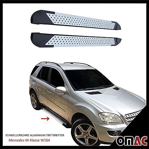 schweller tubes en aluminium marchepieds pour Mercedes ML W164Amande (183)