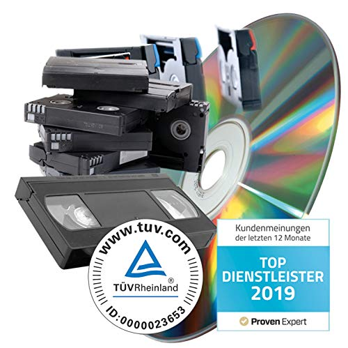 Videos (VHS, SVHS, Hi8, Video8, MiniDV uvm) digitalisieren auf DVD - 45 min Kassette - Kassette Video Player Hi8