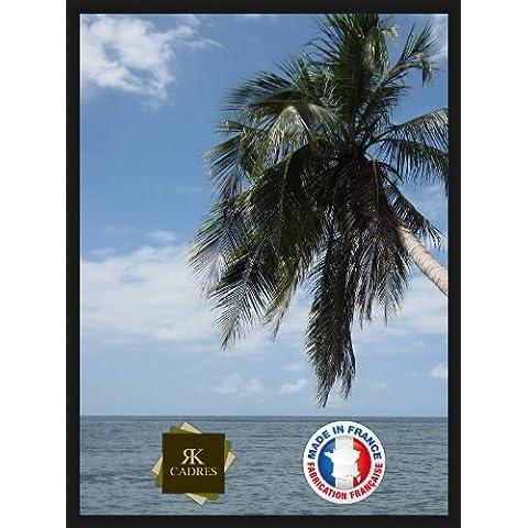 RK Cadres - Cornice per poster, in legno, spessore: 2 cm, colore: Nero 30 x 60 cm nero