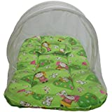 Babilav Baby Bedding Set/Toddler Mattress With Mosquito Net, Medium (Green, 0-12 Month)