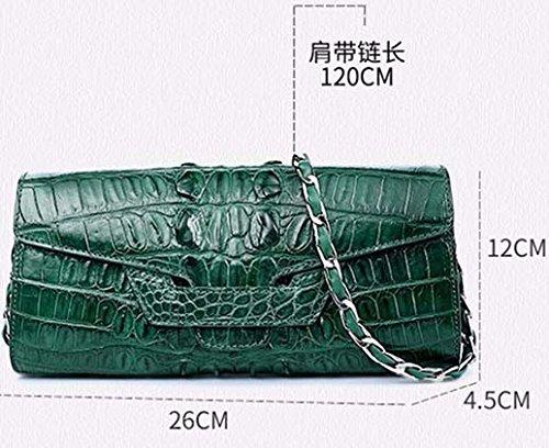 lpkone-Nouveau motif crocodile sac à main sac à main sac motif crocodile sac à bandoulière baodan dîner sac Messenger sac de dame Green