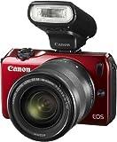 Canon EOS M 6612B032 Systemkamera (18 Megapixel, 7,7 cm (3 Zoll) Display, Full-HD, Touch-Display) Kit inkl. EF-M 18-55mm 1:3,5-5,6 IS STM Objektiv und Speedlite 90EX rot