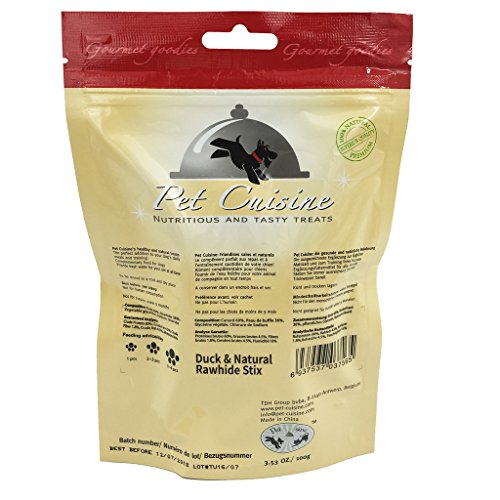 Pet-Cuisine-Dog-Training-Snacks-Puppy-Chews-Jerky-Treats-Duck-Natural-Rawhide-Stix-100g