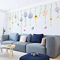 TYKCRt Wall Sticker Sunflower For Bedrooms Living Room Home Decoration Accessories Wall Paper