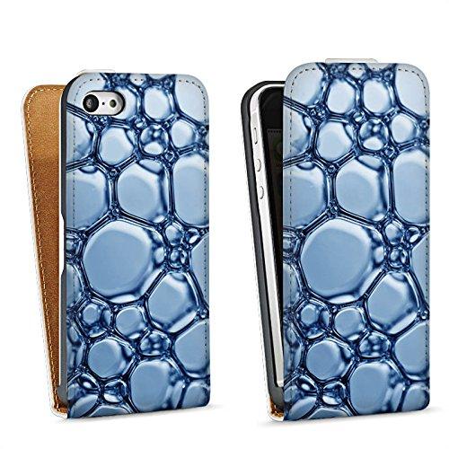 Apple iPhone 4 Housse Étui Silicone Coque Protection Eau Water Bulles Sac Downflip blanc