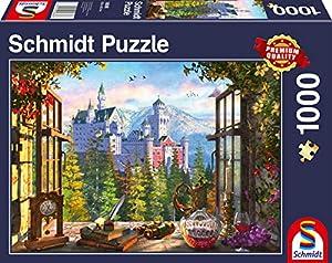 Schmidt Spiele 58386 - Puzzle (1000 Piezas), diseño de Castillo de Cuento de Hadas