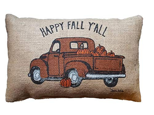 kjhglp UOOPOO Orange Pumpkin Patch Home Decorative Halloween Throw Pillow Cover Square 18 x 18 Inches Cotton Canvas Wedding Pillow Case Happy Fall Cushion Cover for Sofa One Side Printed
