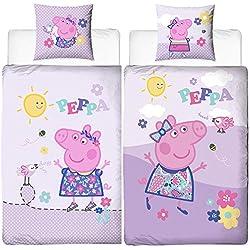 """'Franela de cama infantil Peppa Pig Pig–Diseño """"cheep 135x 200cm + 80x 80cm NUEVO & embalaje original–100% algodón–franela de calidad–Deutsche tamaño estándar"""