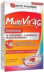 Multivit' 4G Energie | Complément Alimentaire Forme et Tonus - 12 Vitamines et 7 Minéraux | 30 comprimés B