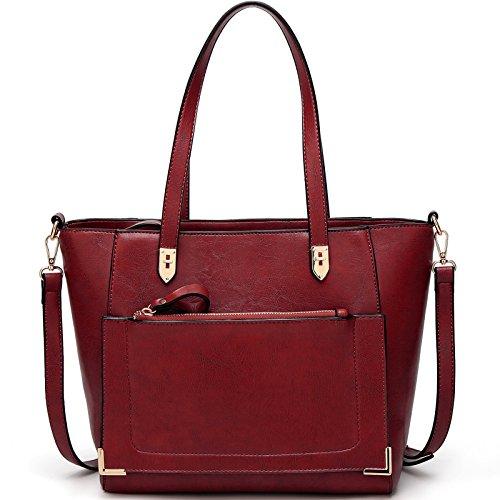 TcIFE Damen Handtaschen Umhängetasche Taschen Handtasche Shopper Rot
