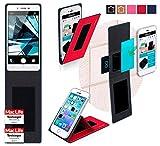 Oppo Mirror 5s Hülle Cover Case in Rot - innovative 4 in 1