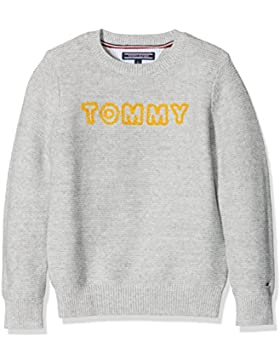 Tommy Hilfiger Ame Logo Cn Sweater L/S, Suéter para Niños