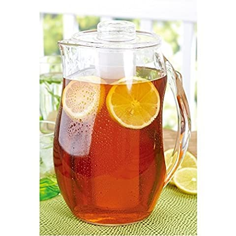 Brilliant - Patio Acrylic Pitcher with Interchangeable Fruit Infuser and Ice Cores, 2 Liters