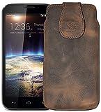 Original Suncase Tasche für / Huawei Ascend G620s / Leder