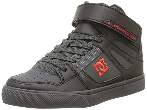 DC Shoes Spartan High Se Ev, Sneakers per Bambini e Ragazzi, Colore Grigio (Black/Athletic Red/B), Taglia 34 EU