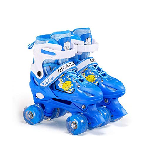 Y-M-H Childrens Junior Patines Unisex AdultThe Patines Botas niños 4 Ruedas Rodillos,Blue,S