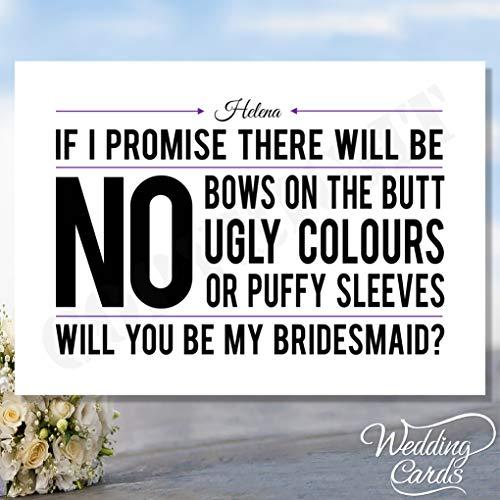 Will You Be My Bridesmaid Maid of Honour Geschenkschachtel Matron of Honour Schwester Chief Laden Karte Postkarte Braut Bräutigam Hochzeit -