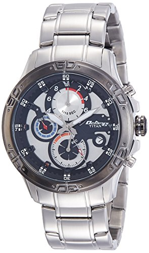 Titan Chronograph White Dial Men's Watch-90047KM01