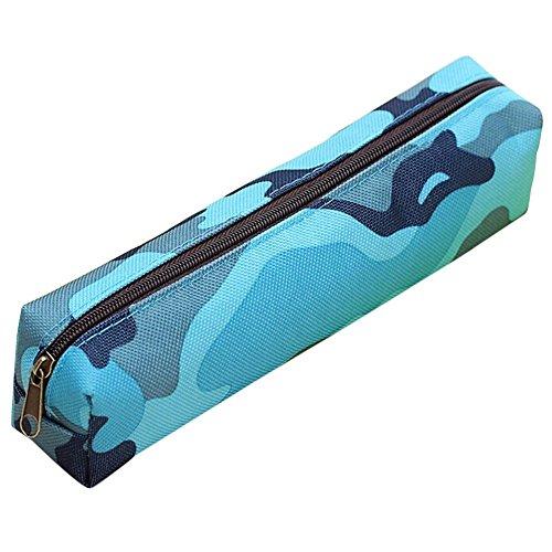 Federtasche, Minkoll Student Camouflage Kids Combat Army Federmäppchen (Camouflage Blue)