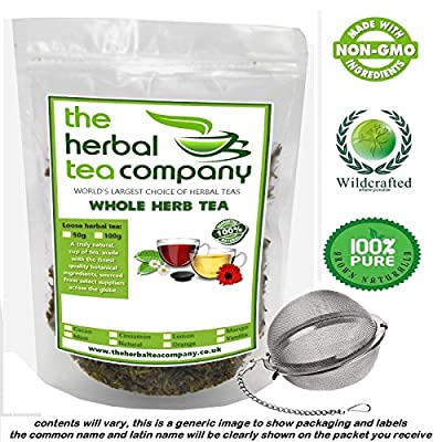Organic Hawthorn Berry Crataegus Loose Whole Herb Tea 50g Free Infuser Ball by The Herbal Tea Company
