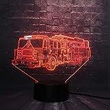 Vehículo Pista De Coche De Juguete Para Niño 3D Led Luz De La Noche Decoración Usb Lámpara Dormitorio Sueño Luz 7 Cambio De Color Regalo De Navidad Juguete