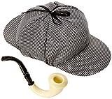Sombrero de Detective + Pipa