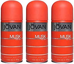 Jovan musk Body Spray - For Men (450 ml, Pack of 3)