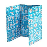 #3: BESTONZON Kitchen Oil Splash Guard Aluminum Foil Gas Stove Shield Oil Splatter Screen Kitchen Tool 84 x 39cm (Blue)