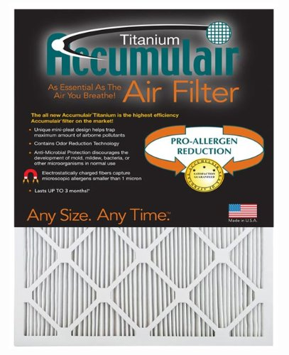 accumulair Titan Hohe Effizienz Allergen Reduktion Air Filter/Ofen Filter (2Pack) 20x23x1 (Actual Size) (Ofen-filter 20x23x1)