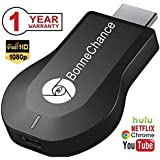 BonneChance WiFi Display Dongle Wireless HDMI Dongle 1080P Airplay TV Dongle Digital AV To HDMI Connector For IOS/Android/Samsung/iPhone/iPad Support DLNA/Airplay Mirror/Miracast/Ezcast/Chromecast