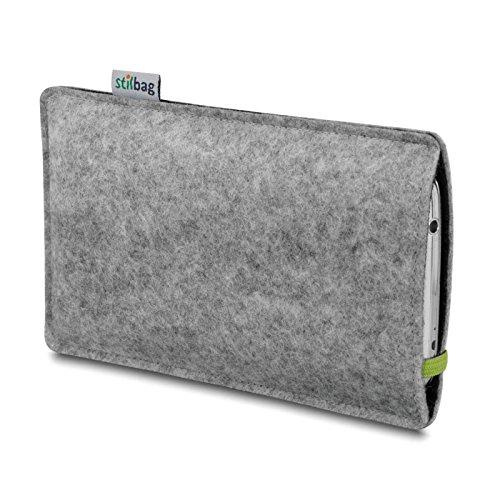 Stilbag Filztasche 'LEON' für Apple iPhone 4/4S - Farbe: gelb-hellgrau lime