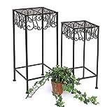 DanDiBo Blumenhocker 140127 2er Set Blumenständer 50 und 60 cm Pflanzenständer Säule