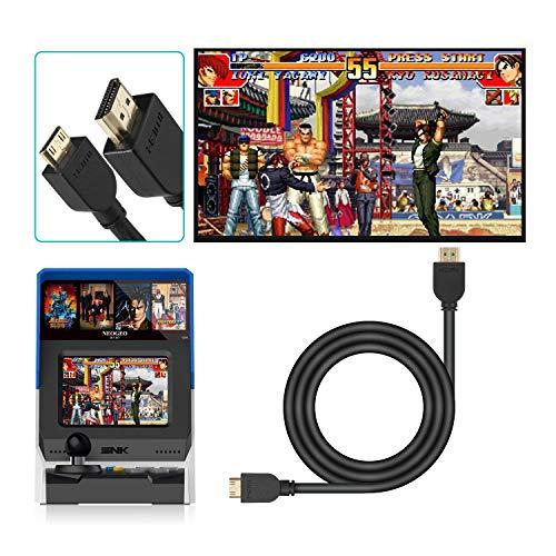 HDMI Kabel für NEOGEO Mini - NesBull 6FT High-Speed Mini-HDMI auf HDMI Kabel Unterstützung 4K-Ultra HD 3D 1080p und Ethernet für NEOGEO Mini
