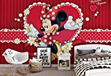 Wallsticker Warehouse Disney Minnie Mouse Fototapete - Tapete - Fotomural - Mural Wandbild - (4-015WM) - XL - 208cm x 146cm - VLIES (EasyInstall) - 2 Pieces