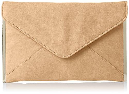 Swankyswans Damen Louis Suede Slim Envelope Party Prom Clutch Bag Tasche, Braun (Tan), One Size -