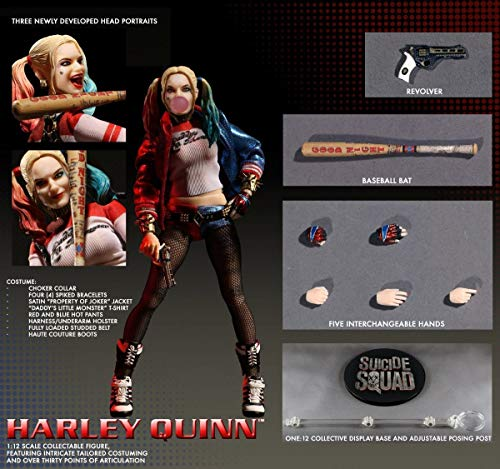 Straight from the DC Comic's summer blockbuster Suicide Squad comes the Suicide Squad Harley Quinn One:12 Collective Action Figure! Debuting their premiere female body, the One:12 Collective captures every aspect of Margot Robbi's celebrated portraya...