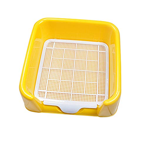 Mitrc Indoor-Training Dog Potty Tray, Pet Loo Portable Indoor/Outdoor Dog Potty Groß, Neutral, Small Dog Urinal Pet Potty,Yellow,56 * 42cm - Pet-loo