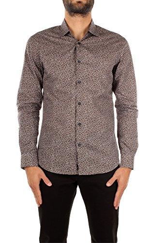 Camicie Zegna Uomo Cotone Marrone, Grigio e Blu 60517539DLLER Marrone 41 Silm