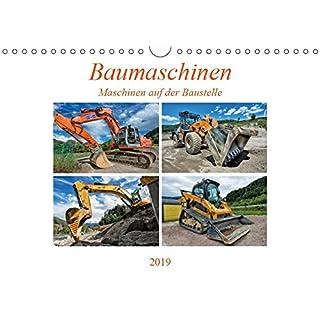 Baumaschinen - Maschinen auf der Baustelle (Wandkalender 2019 DIN A4 quer): Sie sehen Bilder von Baumaschinen an ihrem Arbeitsplatz (Monatskalender, 14 Seiten ) (CALVENDO Technologie)