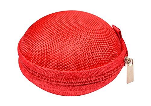 Lubier Kleiner Space Saver Bags Vorratsbehälter mit Reißverschluss für Ohrringe Münzen und kleine Accessoires Tasche (Rot)