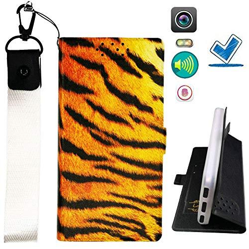 HYJPT Hulle fur Huawei Ascend G6 Hülle Flip PU-Leder + Silikon Cover Case Fest HW