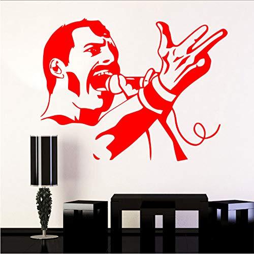 wuyyii 43x56 cm Klassische Freddie Mercury Queen Music band Vinyl Wandaufkleber Für Bar Tapete Raumdekoration Schlafzimmer Dekor Wandtattoo WandbildB