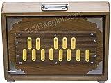 Maharaja Musicals Shruti Box - Teak Wood Surpeti - 13 Drone Notes C-to-C Shruthi Indian Musical Instrument (PDI-ABC)
