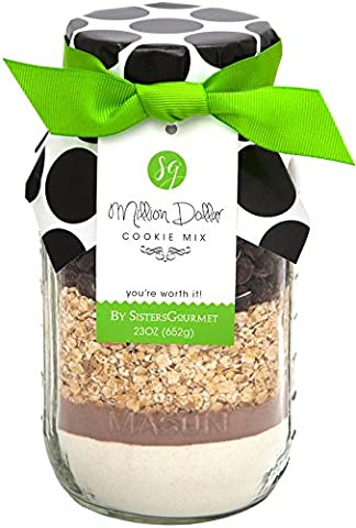 Sisters Gourmet Million Dollar Chocolate Chip Cookie Mix - 652g (Geschenk-Backmischung)