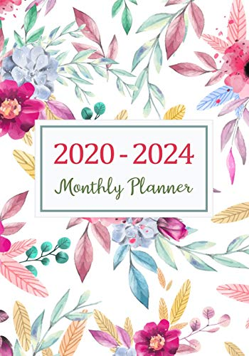 2020-2024 Monthly Planner: Five Years Monthly Calendar Planner (60 Months) For To Do List Journal Notebook | Academic Schedule Agenda Logbook Or ... & Monthly Calendar Planners Holidays, Band 4)