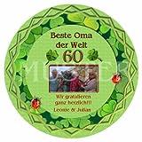 1 Tortenaufleger oder 12 Muffinaufleger zum 18, 20,30,40,50,60,70,80 Geburtstag/zum Kindergeburtstag mit Ihren Fotos