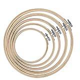 QH-Shop Stickerei Ring,Stickrahmen Runden Bambus Kreis set für DIY Kunst Handwerk handliches Nähen 5packs